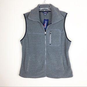 NWT Chaps Sport Gray Fleece Vest